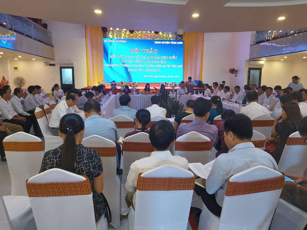 Hội thảo kết nối cung - cầu sản phẩm tiêu biểu huyện Vĩnh Linh năm 2019